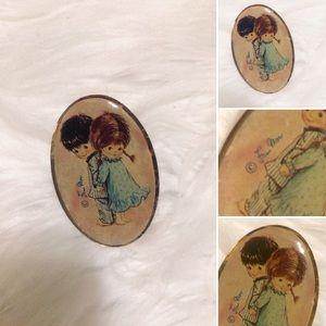 🦋2/$10 3/$15 4/$18 5/$20 Fran Mor Moppets Pin